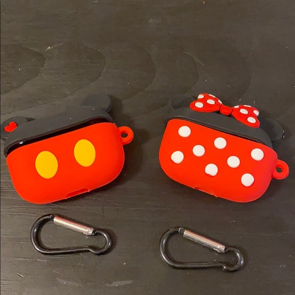 Set of Mickey and Minnie Mouse AirPod cases